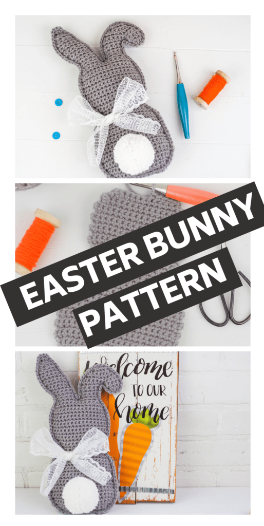 This Crochet Easter bunny is sure to brighten your home this spring. Follow the simple free crochet pattern to make this cute little crochet bunny.