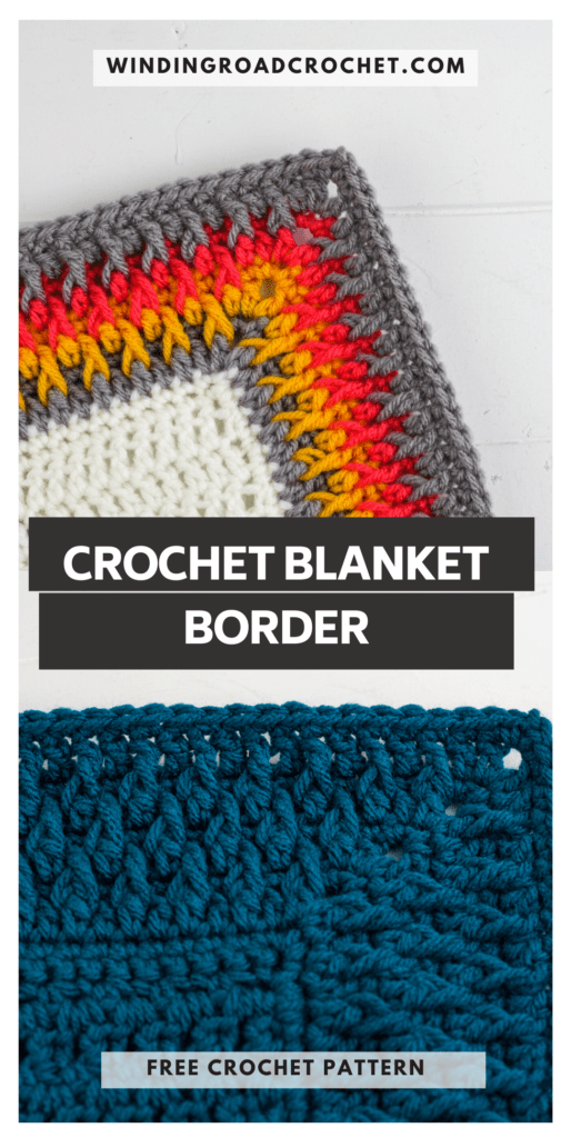 Learn to crochet this beautiful alpine stitch crochet blanket border with the free crochet pattern and video tutorial. This is an intermediate stitch.
