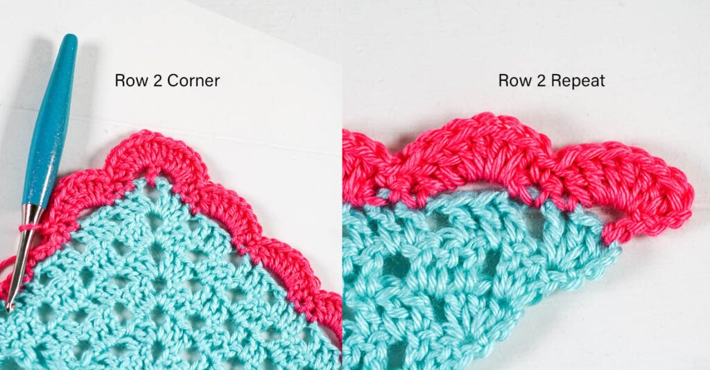 Free crochet pattern for a beautiful crochet shawl. This pattern uses a stunning modified granny stitch and arcade stitch border.