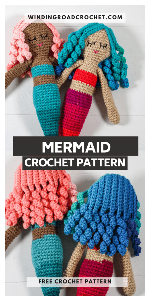 This cute little crochet mermaid will be a perfect gift for any sea fanatic. Easy to follow free crochet pattern with instructional photos.