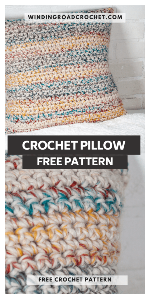 This free crochet pattern is perfect for beginners. This crochet pillow cover pattern is easy to follow and even has an unabbreviated pattern version.