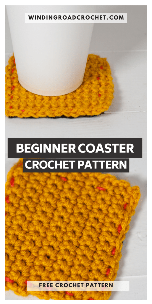 This free crochet pattern is perfect for beginners. This beginner crochet coaster pattern is easy to follow and even has an unabbreviated pattern version.