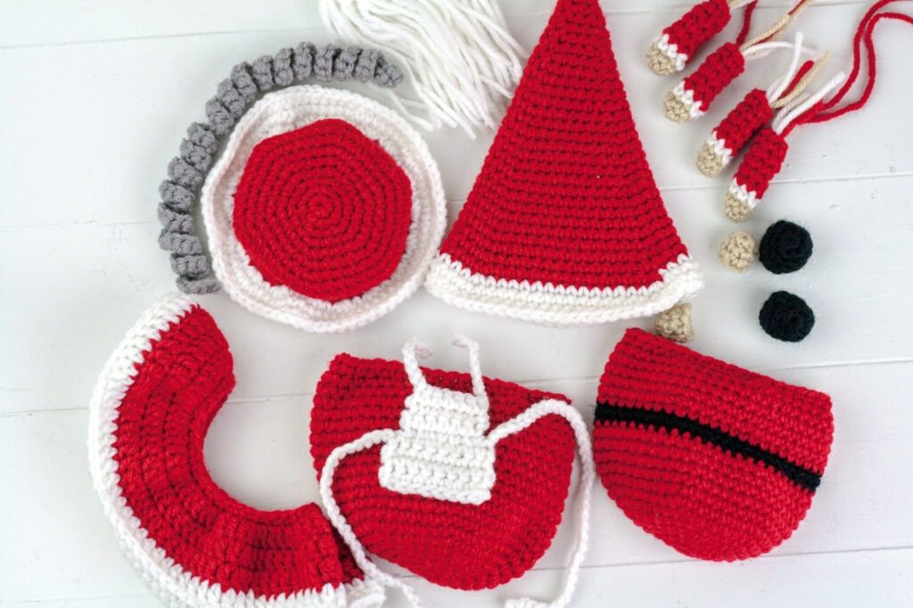 Have a Merry Christmas with this cute Crochet Santa Gnome. Free crochet pattern for a fun holiday decoration with a video tutorial.