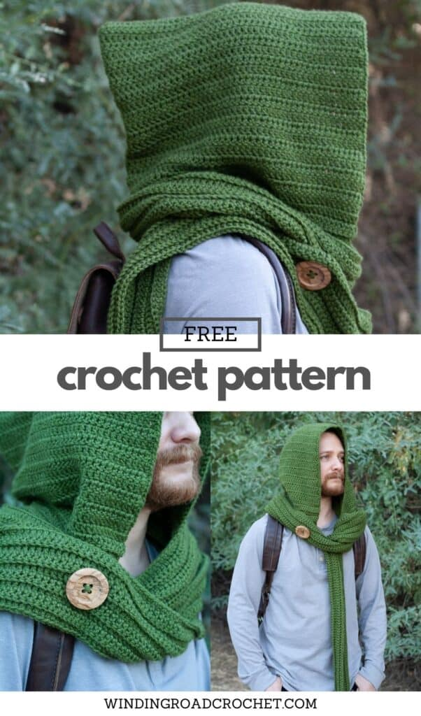 Crochet a unique and easy crochet hooded scarf that can be worn in several ways. Free crochet pattern with video tutorial.