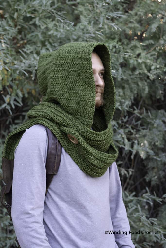 Wanderer S Crochet Hooded Scarf Free Pattern Winding Road Crochet