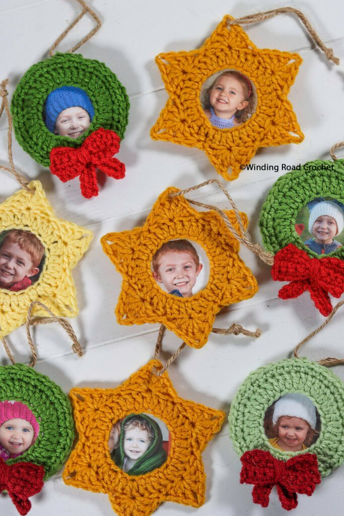 Make the Holidays memorable by making some easy crochet picture ornaments. Quick and easy free crochet pattern.