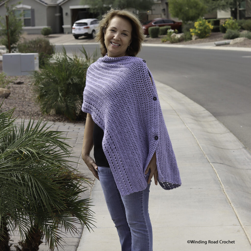 You will love this beginner-friendly crochet poncho that can be styled in so many ways. Free crochet pattern with a video tutorial.