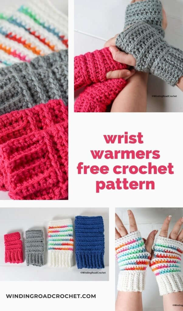Stay a little warmer with these pretty crochet wrist warmers. Free crochet pattern and video tutorial. Plus a link to a matching beanie.
