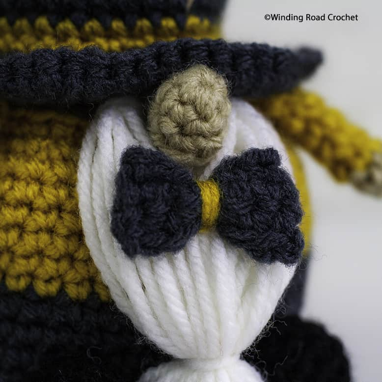 Crochet a New Year's Gnome to celebrate the new year with you. Free crochet pattern and a helpful video tutorial series to help beginners.