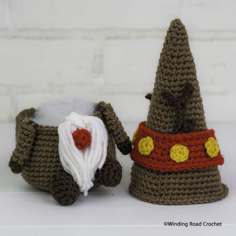 Crochet a reindeer gnome to celebrate the holidays with you. Free crochet pattern and a helpful video tutorial series to help beginners.