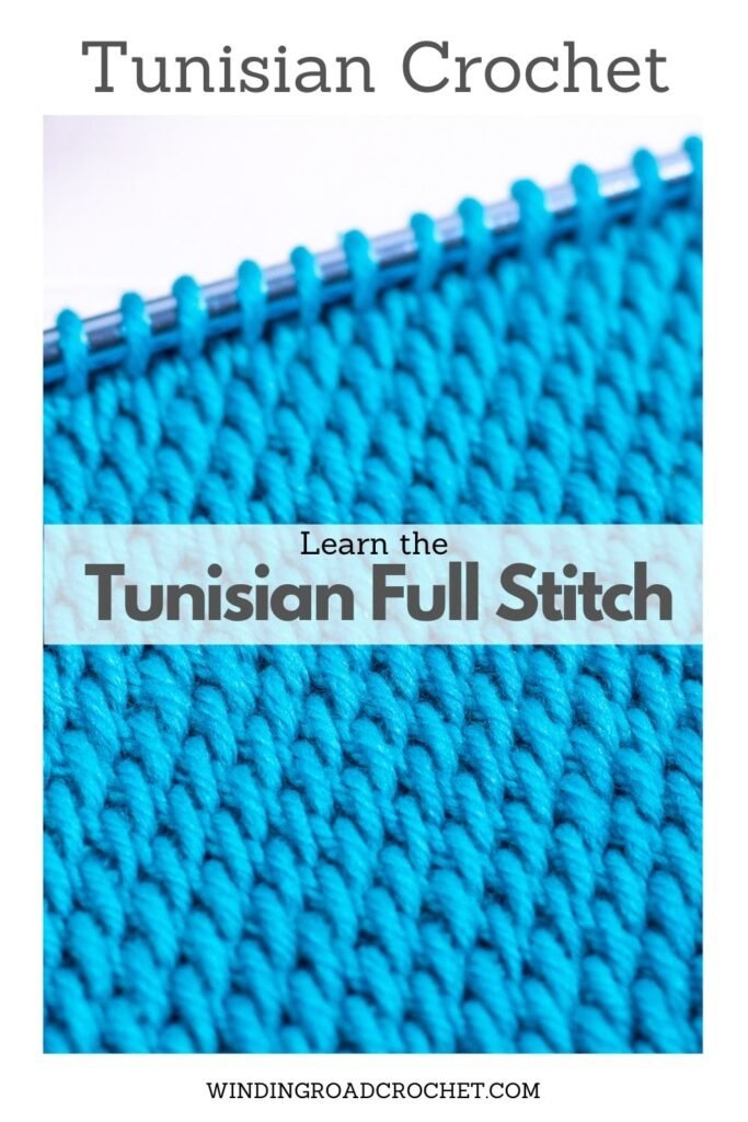 Learn all the basics of Tunisian crochet with this free online course. In lesson 6, we learn the Tunisian Full stitch with a woven look.