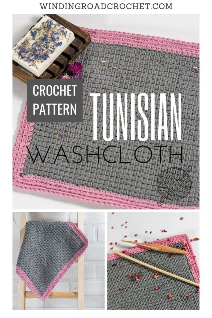 This Simply Simple Tunisian Crochet washcloth is a crochet pattern in the Tunisian Crochet Course. It is an easy pattern with video tutorial.