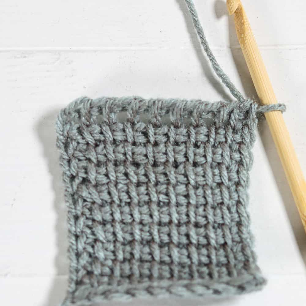 Learn all the basics of Tunisian crochet with this free online course. Lesson one covers all the basics and the Tunisian simple stitch.
