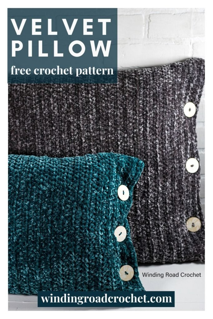 Add coziness to your home with these easy velvet crochet pillows. Follow the free crochet pattern and video tutorial to make 3 pillow sizes.