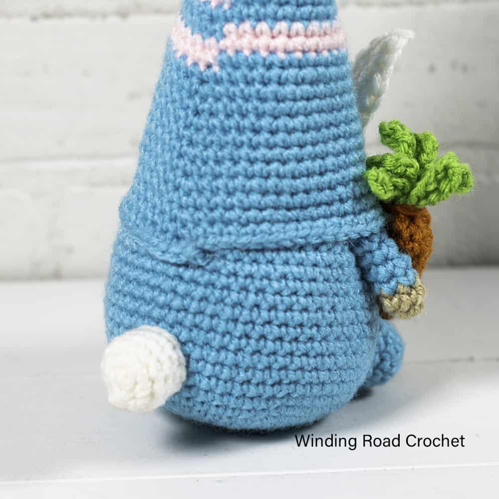 This crochet bunny gnome will help you have a happy spring! Just follow the free crochet pattern to learn how to make this crochet gnome.