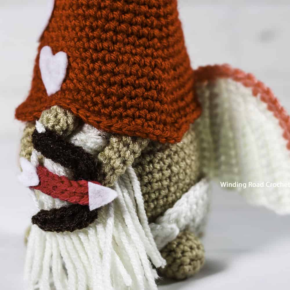 Celebrate Valentine's day with your own personal cupid. This little crochet cupid gnome free pattern makes a great decoration.