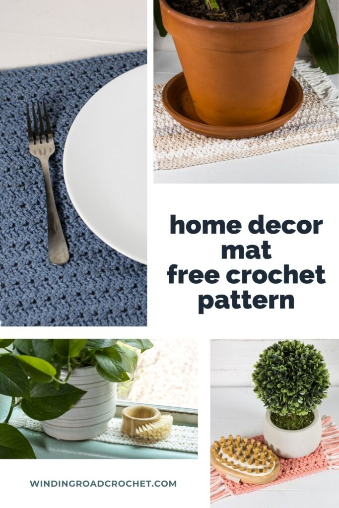 You will love making this quick and easy crochet placemat. The free crochet pattern includes sizes for mats for all the rooms in your home.