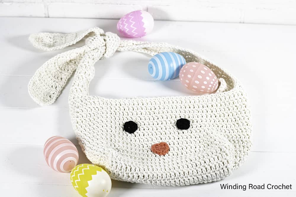 You will love making this quick crochet bunny bag. Follow the free crochet pattern with lots of instructional photos. Great spring project.