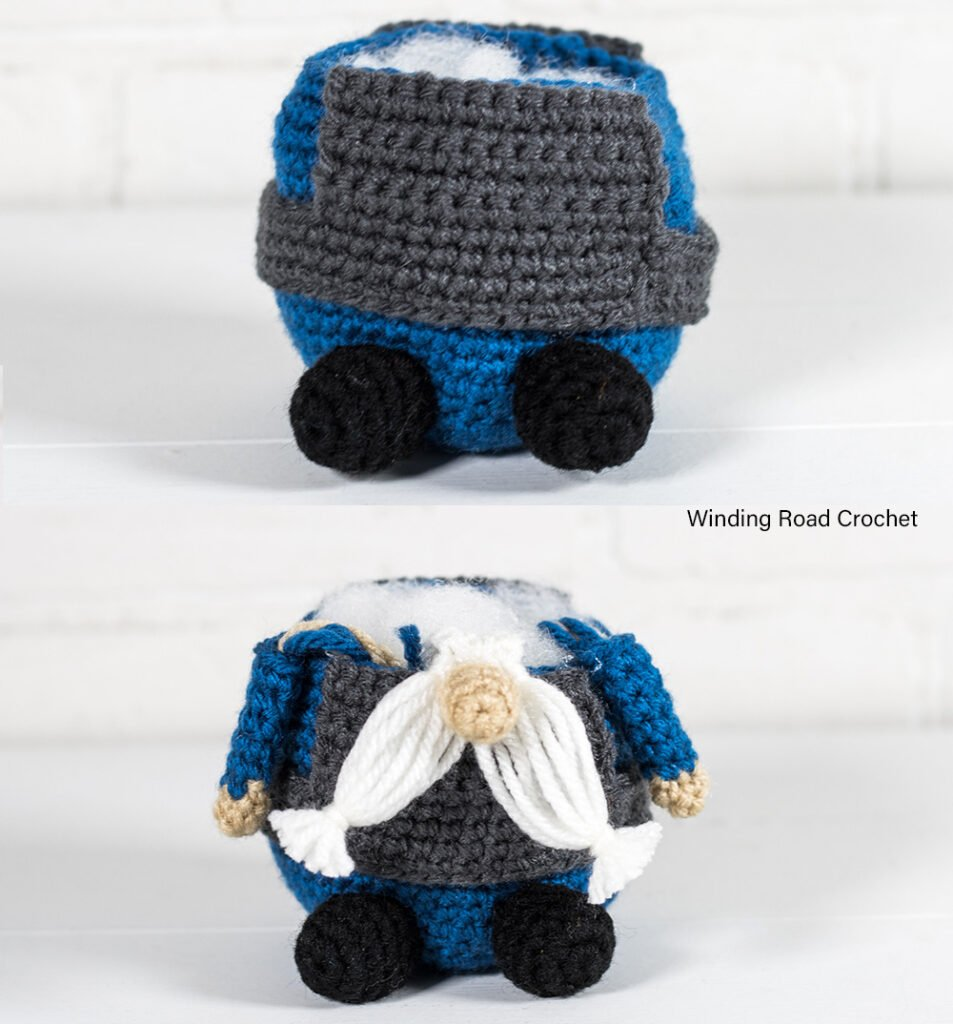 A crochet police gnome makes a addition to your gnome collection. This free crochet pattern will help you make an adorable gnome.v