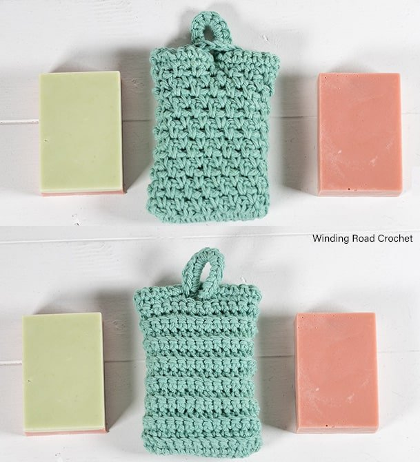 Make a quick and easy crochet soap saver pattern and matching washcloth. These patterns make a great little gift. There is a video tutorial.