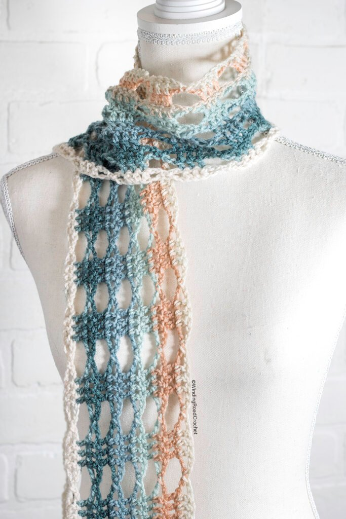You will love this crochet lace shawl that only uses one skein. The free crochet pattern and video tutorial will help you with this pattern.