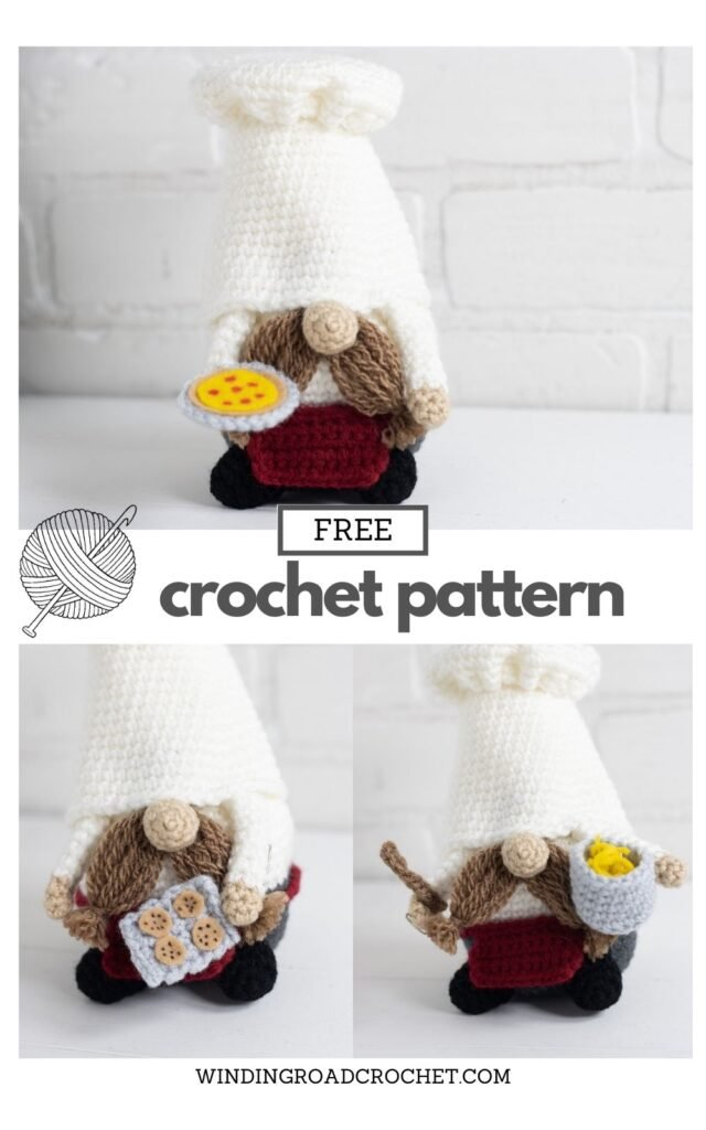 This crochet chef gnome will be a great addition to your collection. Just follow the free crochet pattern and video tutorials to make it.