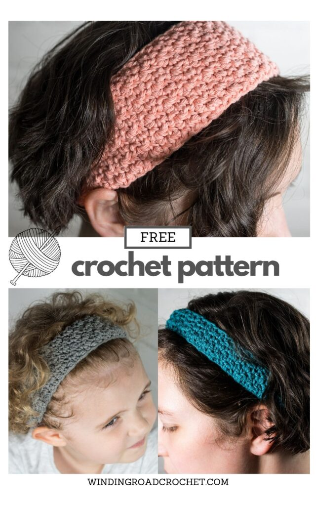 Make a quick and easy spa crochet headband with this free crochet pattern and video tutorial. Great project for beginners.