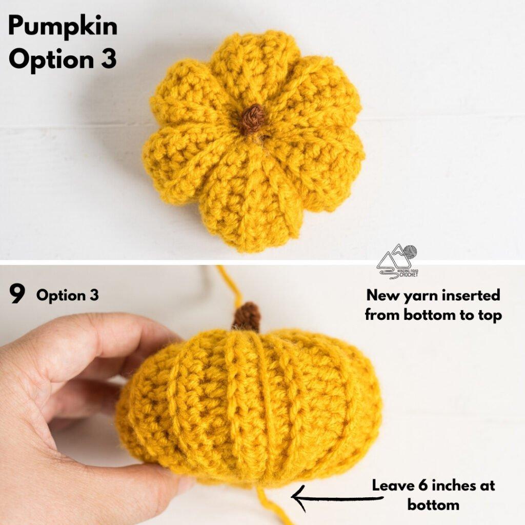 crochet pumpkin instructions by Winding Road Crochet