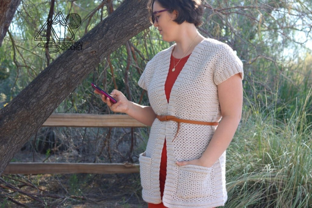 crochet short sleeve cardigan