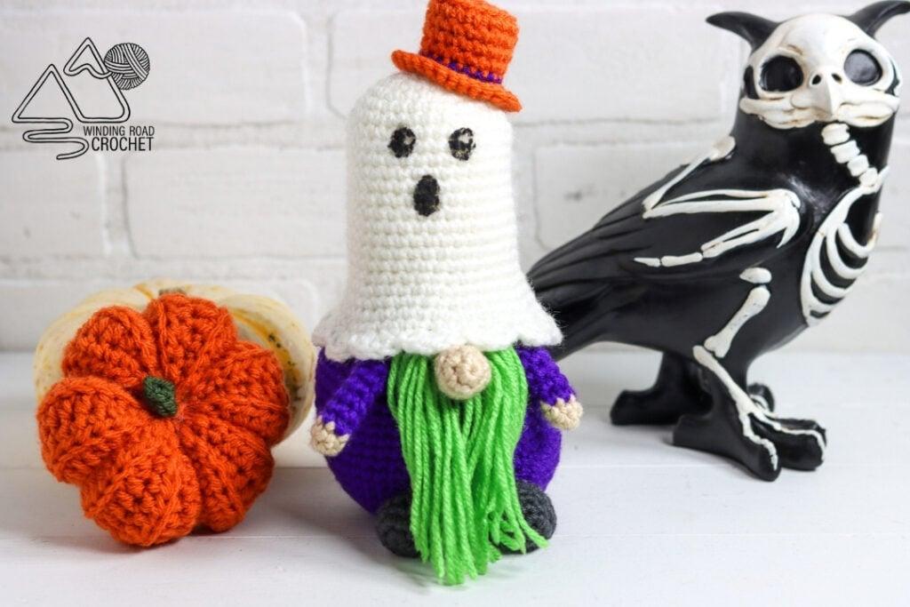 crochet ghost gnome
