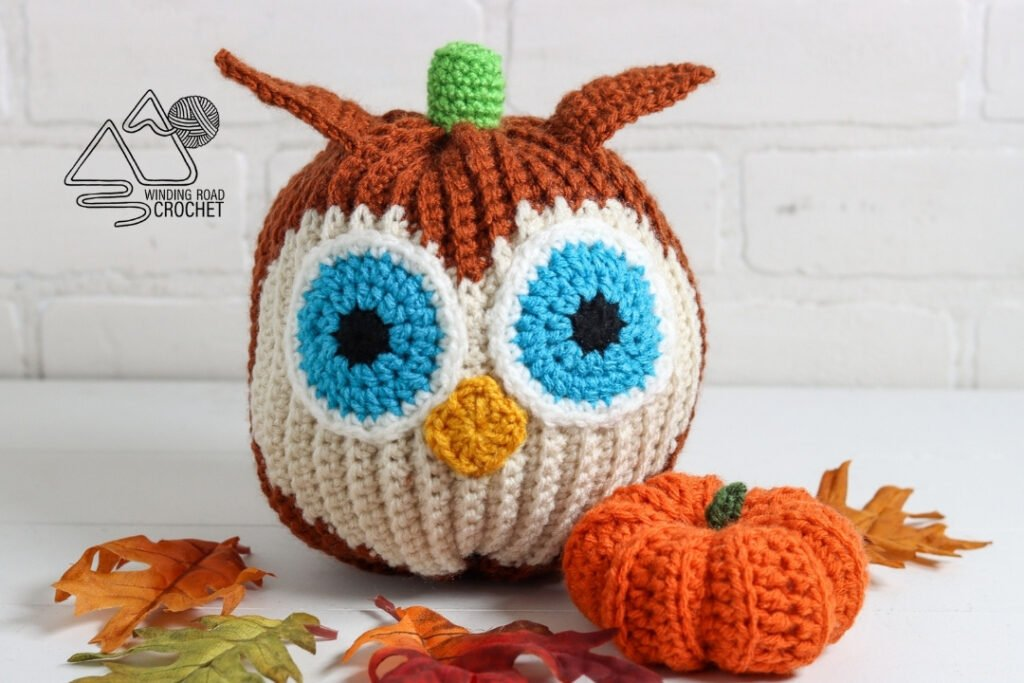 crochet pumpkin owl